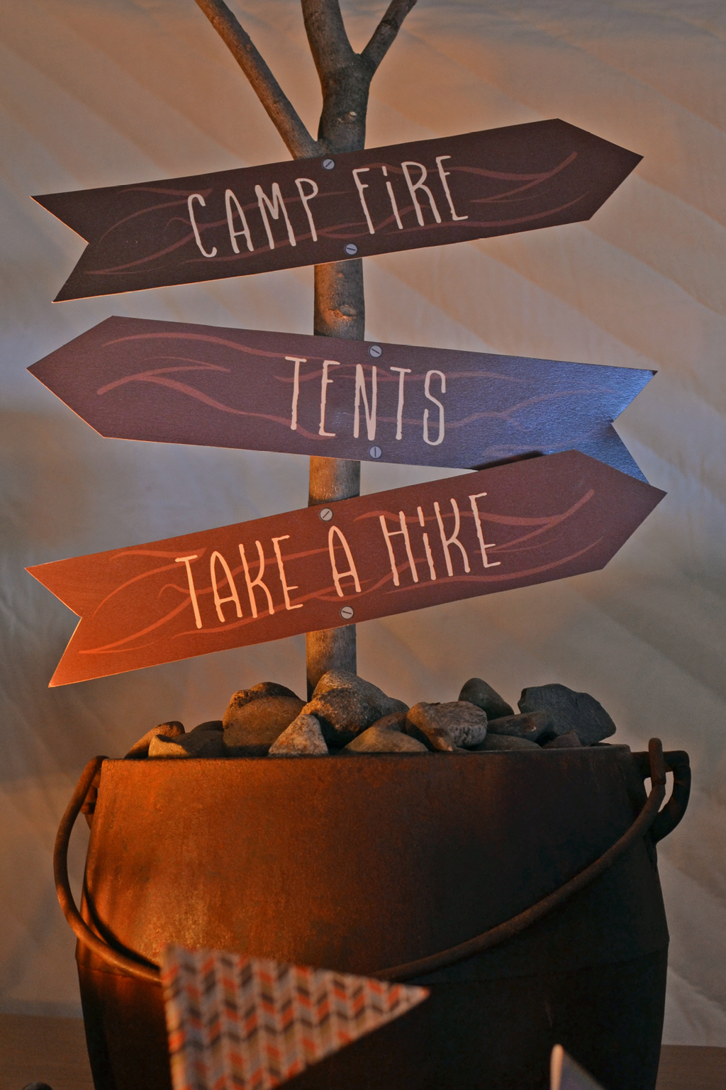 Campfire-Themed Party Signs