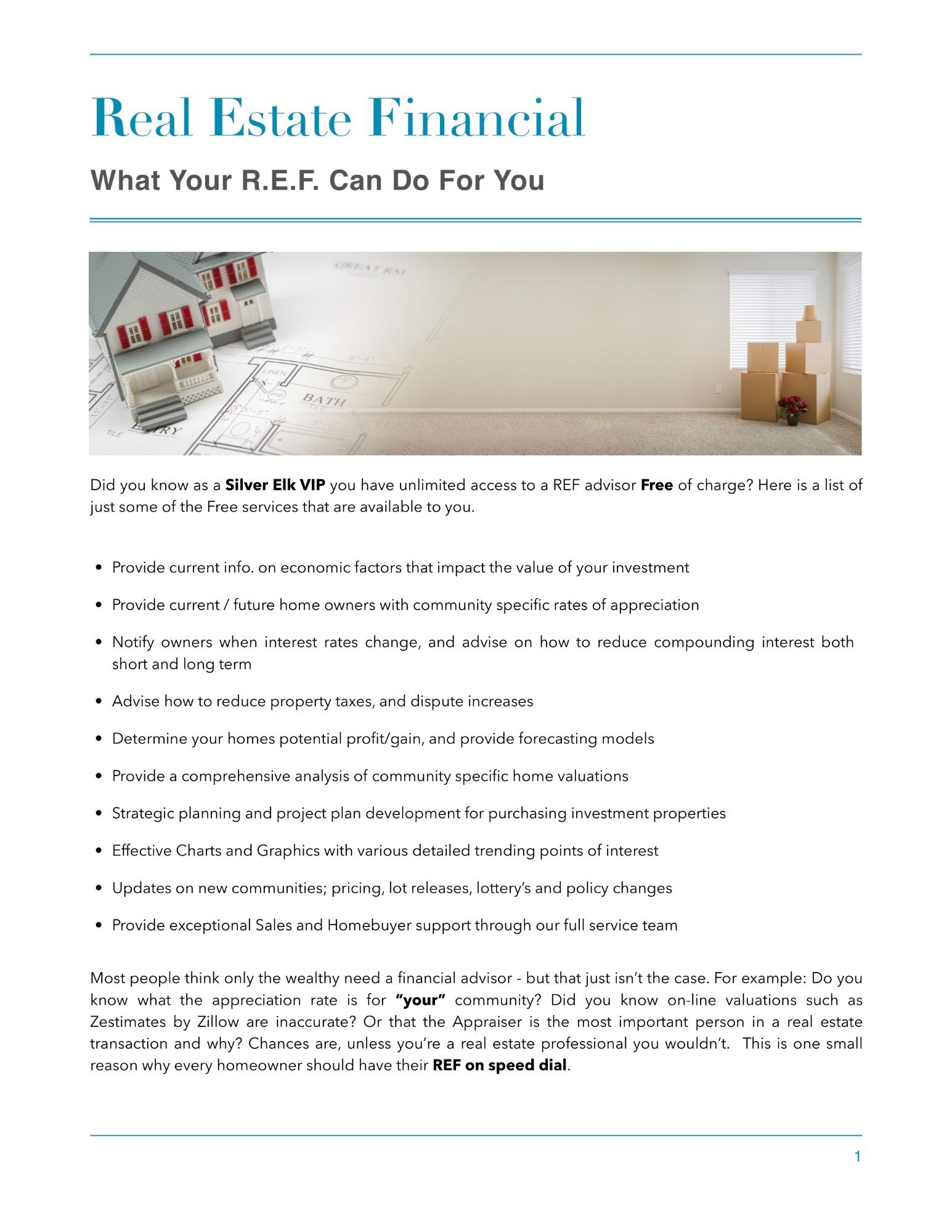 Real Estate Financial Advisor